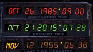 Marty arrives in the future and #bttfday trilogy screenings in Valencia